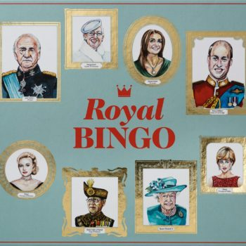 This royal family-themed bingo board is the perfect gift for your Anglophile bestie