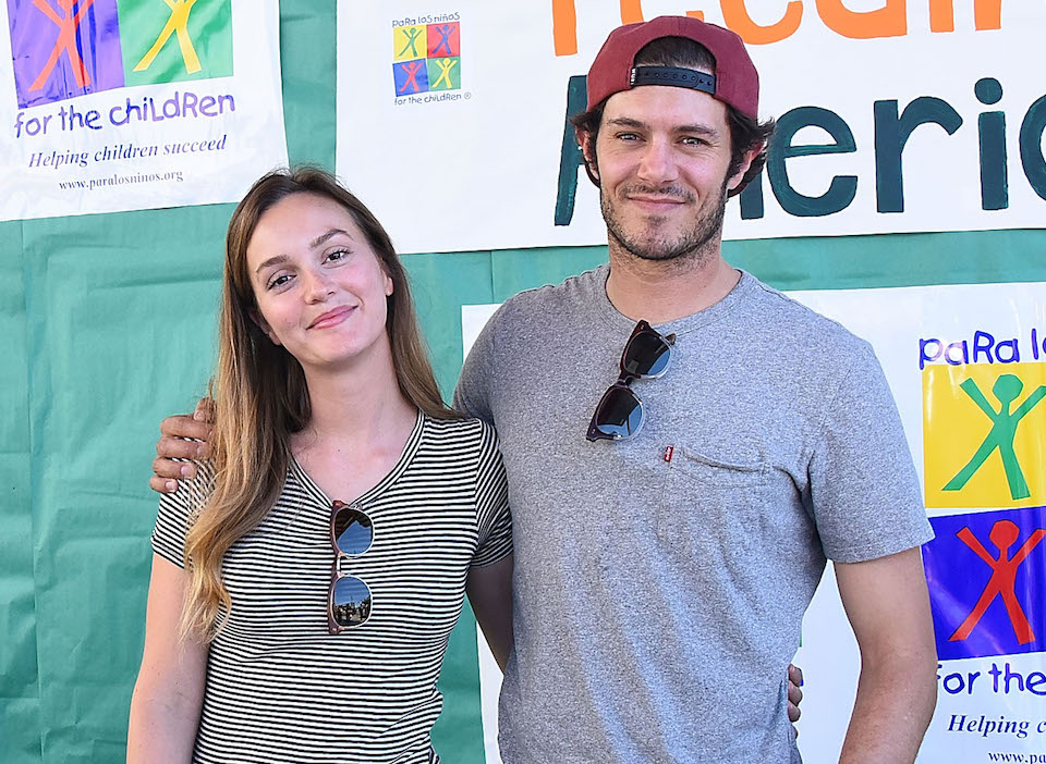 "Leighton Meester and Adam Brody joke about celebrating ""Seth and Blair Day"" in their house"
