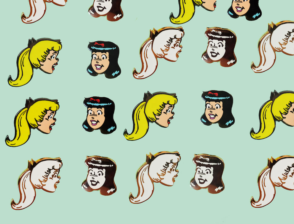 Fashion brand Betty and Veronica released a pin collection with artist Sara Lyons, and it's so friggin' cute