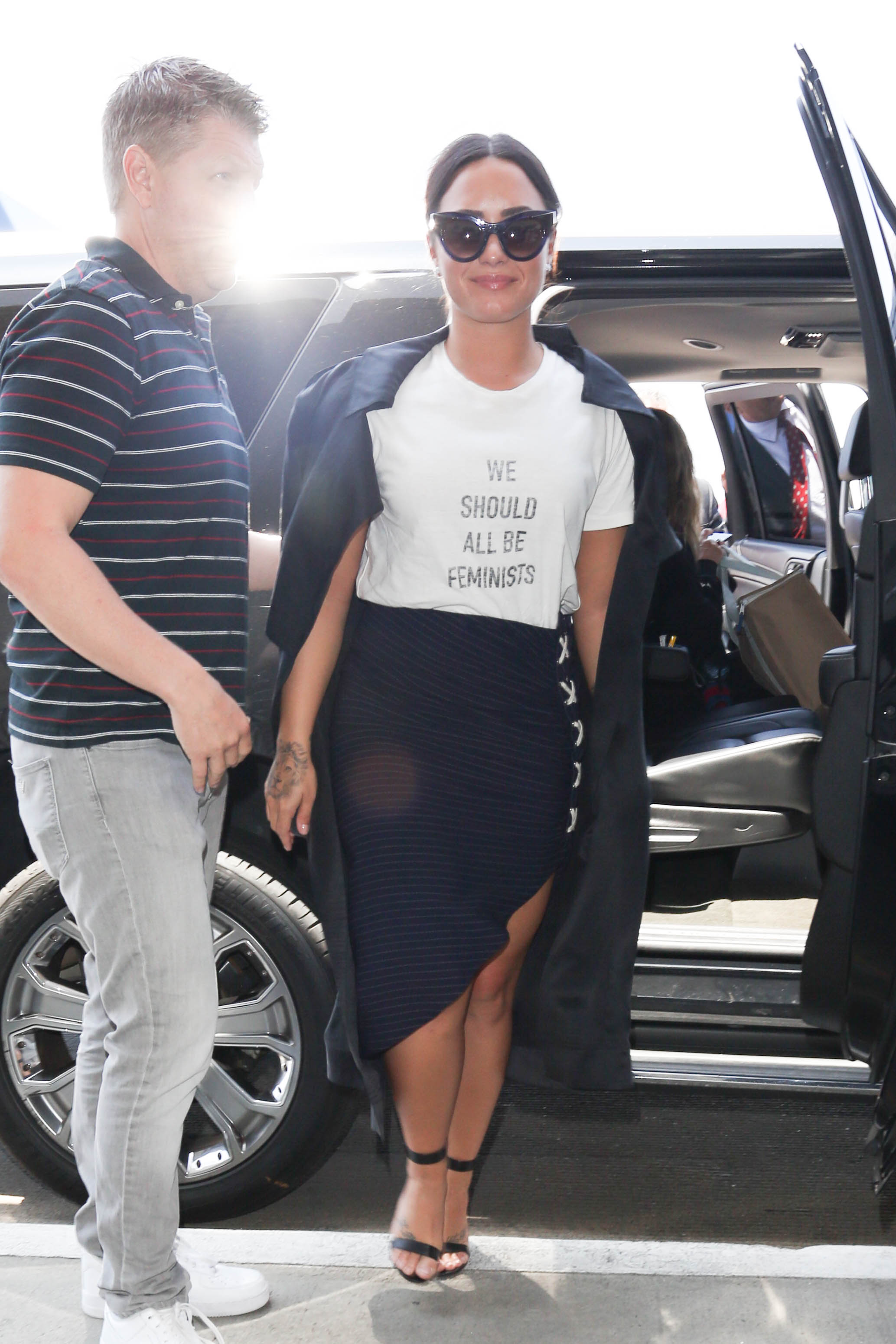 """Demi Lovato rocked this chic """"We Should All Be Feminists"""" shirt, and here's where you can get one of your very own"""