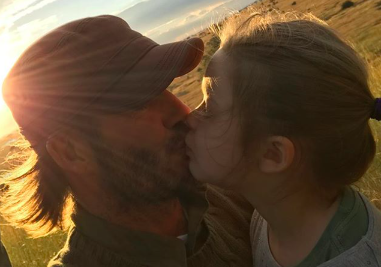 David Beckham defends kissing daughter Harper on the lips in Facebook Live chat
