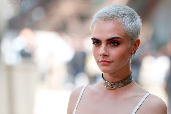Cara Delevingne's firework hairpiece almost looks like a tattoo