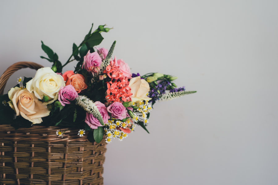 This wedding ceremony featured more flowers than we've ever seen in one place