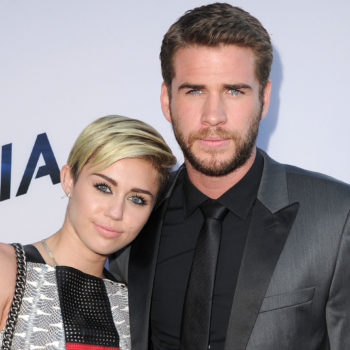 Miley Cyrus shared an 8-year-old photo of her first kiss with Liam Hemsworth