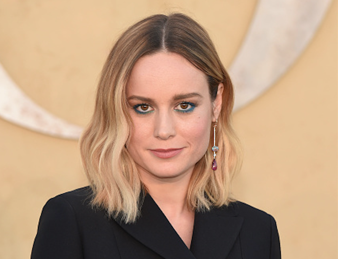 Brie Larson wore a dress covered in an animal we can't identify