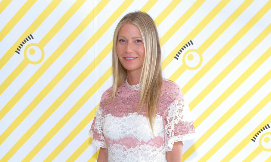 Here's where to buy Gwyneth Paltrow's pink and white lace dress