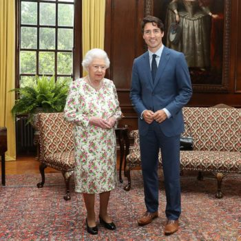 Canadian Prime Minister Justin Trudeau made Queen Elizabeth laugh, all is right with the world