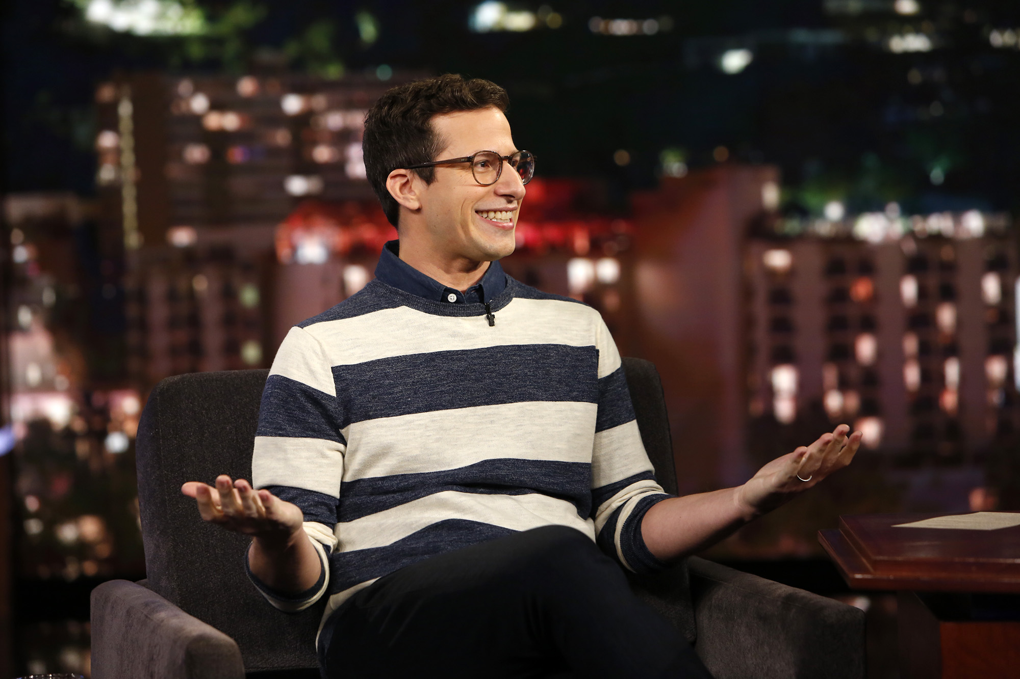 "Aww, Andy Samberg just gushed about how much he loves his ""Brooklyn Nine-Nine"" family"