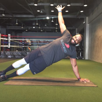 """Try """"Strong"""" trainer Leyon Azubuike's seven-step, at-home boxing workout (when you don't have time to hit the gym)"""