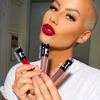 Flirt Cosmetics and Amber Rose launched new smooch-proof liquid lipsticks from their Muva Mouth line