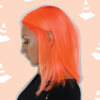 """This woman transformed her virgin hair from blonde to """"safety cone orange"""""""
