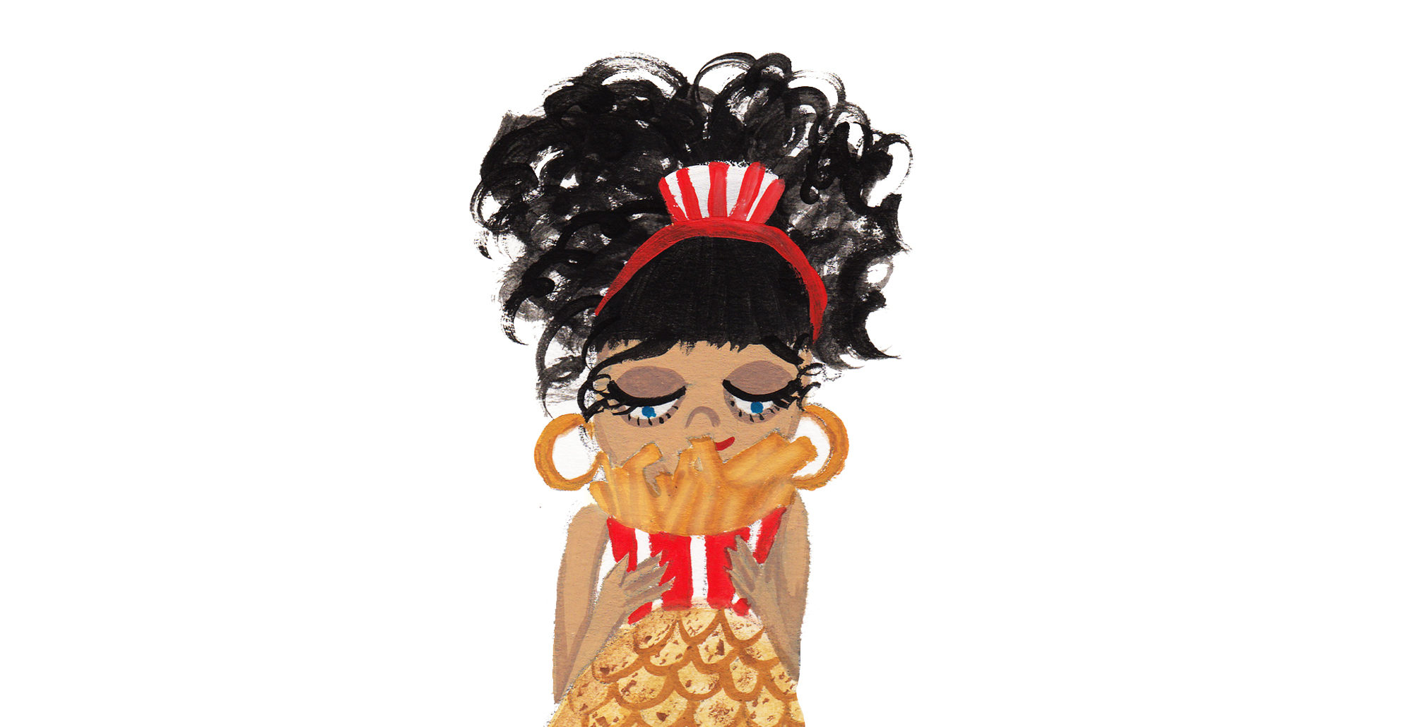 Because French fries go well with everything, and mermaids know it