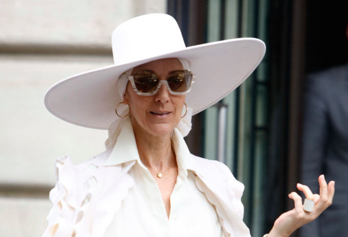 Celine Dion's all-white cape situation proves that she fears nothing
