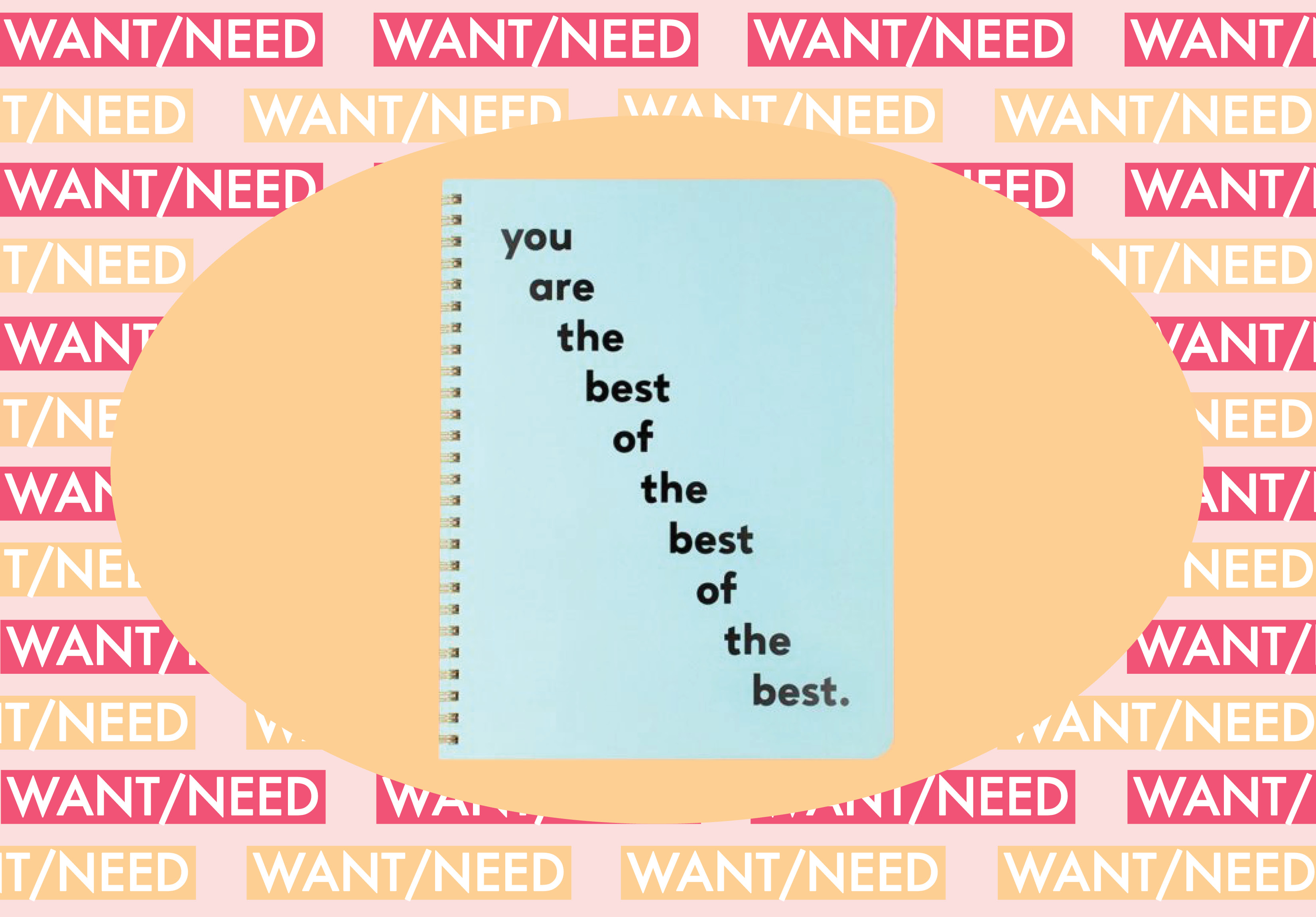 WANT/NEED: A notebook that tells you just how freaking great you are, and more stuff you'll want to buy