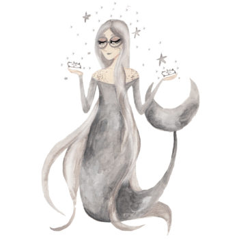 We live under the same moon as mermaids…