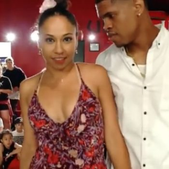 This professional dancer proposed to his dance partner mid-performance, and the crowd could not handle it