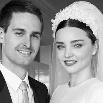 Miranda Kerr shared the first picture of her wedding dress, and it's pure Old Hollywood glamor