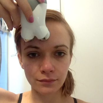 Our beauty writer tried NuFace's sci-fi looking microcurrent device, and here's what happened