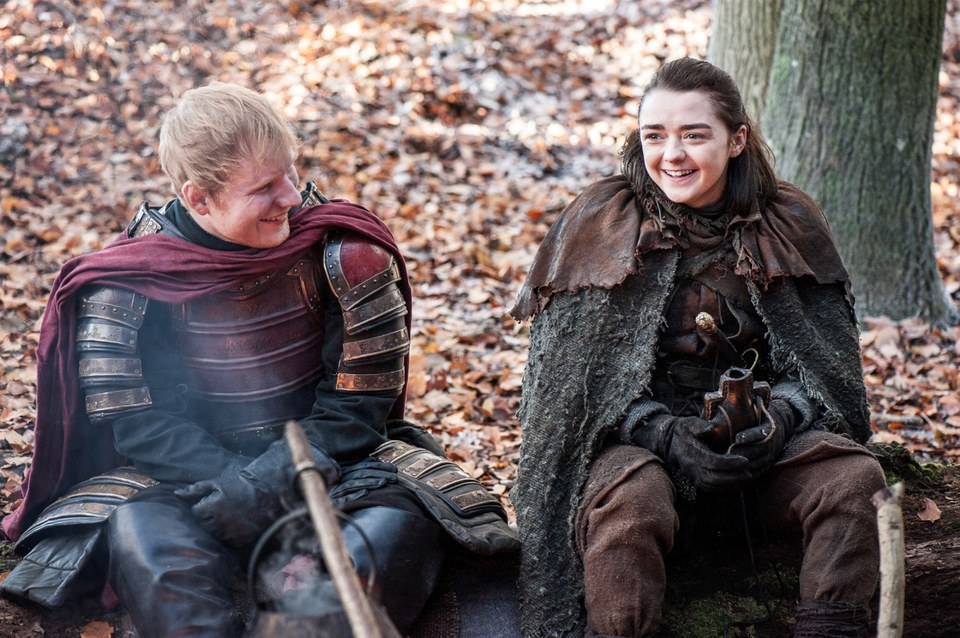 "Literally everything Ed Sheeran did in his appearance on ""Game of Thrones"""