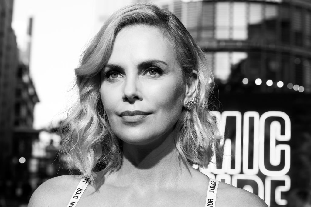 Charlize Theron wore a badass white bralette as a top on the red carpet
