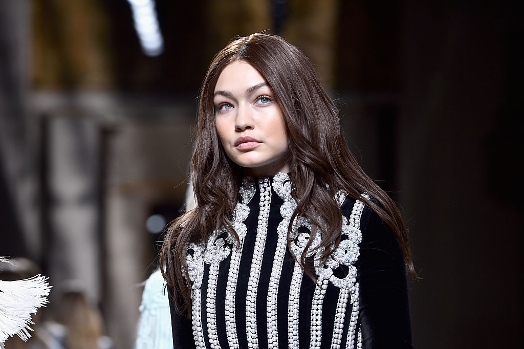 Gigi Hadid is walking around NYC in what appears to be a pair of swan pajamas