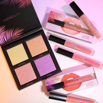 Huda Beauty's Summer Solstice collection is here, and we're eyeing the holographic purple highlighter in the new palette