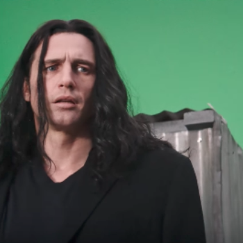 "James Franco just can't get his lines down in the teaser trailer for ""The Disaster Artist"""