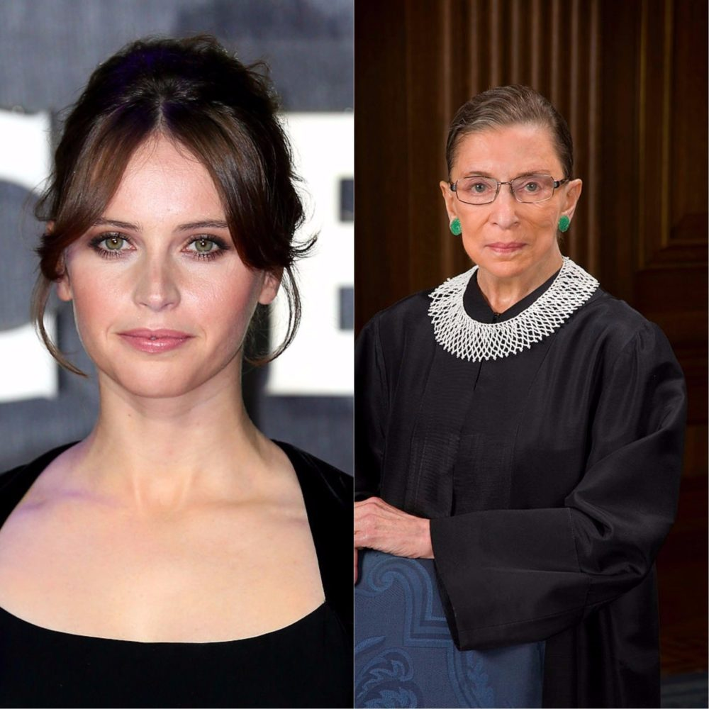 Felicity Jones will play Ruth Bader Ginsburg, because sometimes cinematic dreams come true