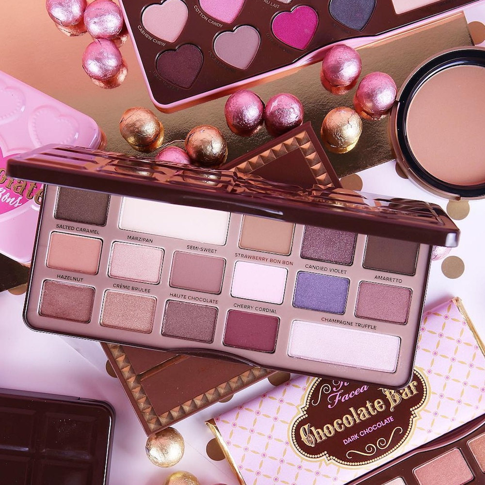 Hold the phone: Too Faced Cosmetics is dropping a huge Chocolate Vault filled with their cocoa-scented classics