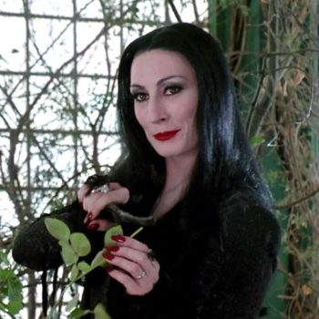 Sabrina the teenage witch and Morticia Addams teamed up for this scary movie