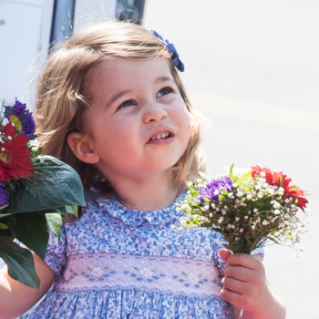 There's video footage of Princess Charlotte's first royal curtsy, and OH THE CUTENESS