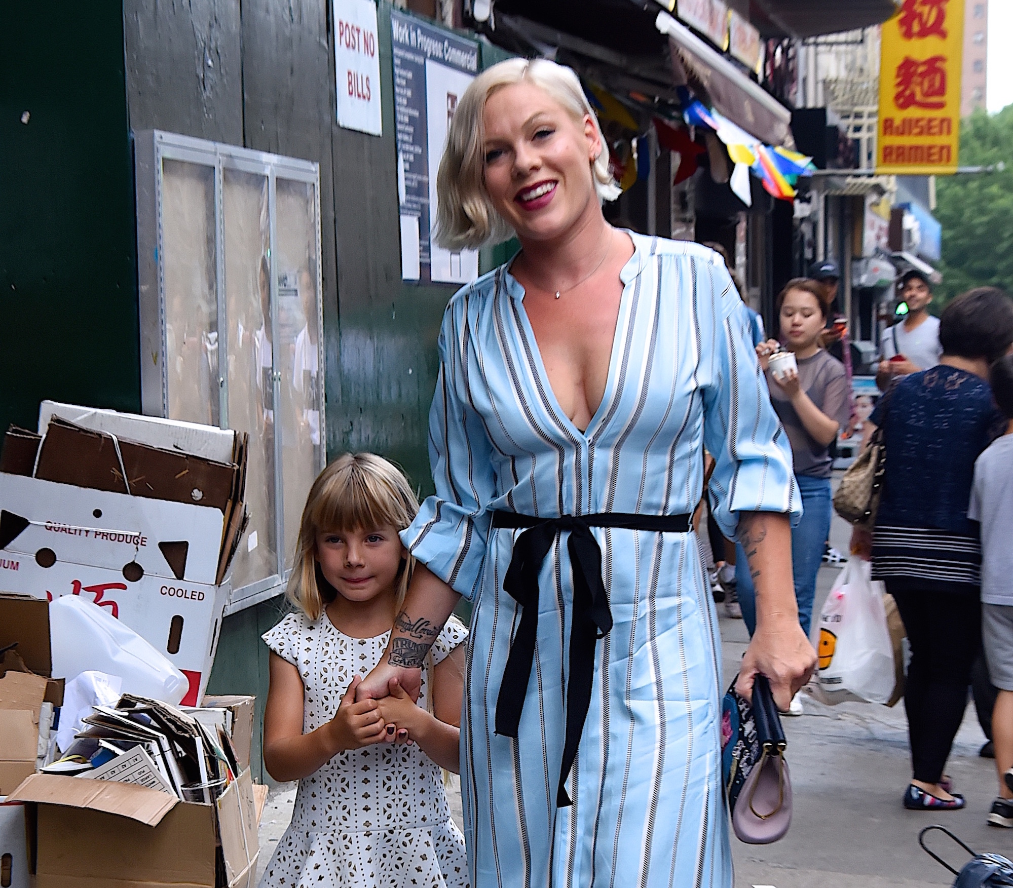 Pink has been accused of putting her baby in a dangerous situation