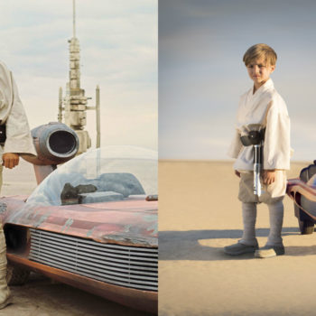 "Forget your Barbie Jeep, you can now ride around your driveway in a ""Star Wars"" landspeeder"