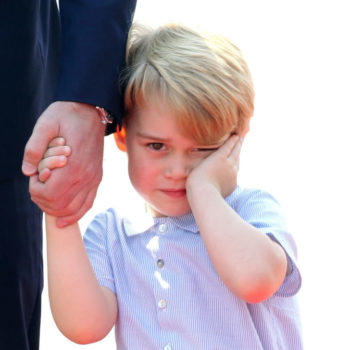 Prince George will stop at nothing to drag his royal dad out of a boring adult conversation