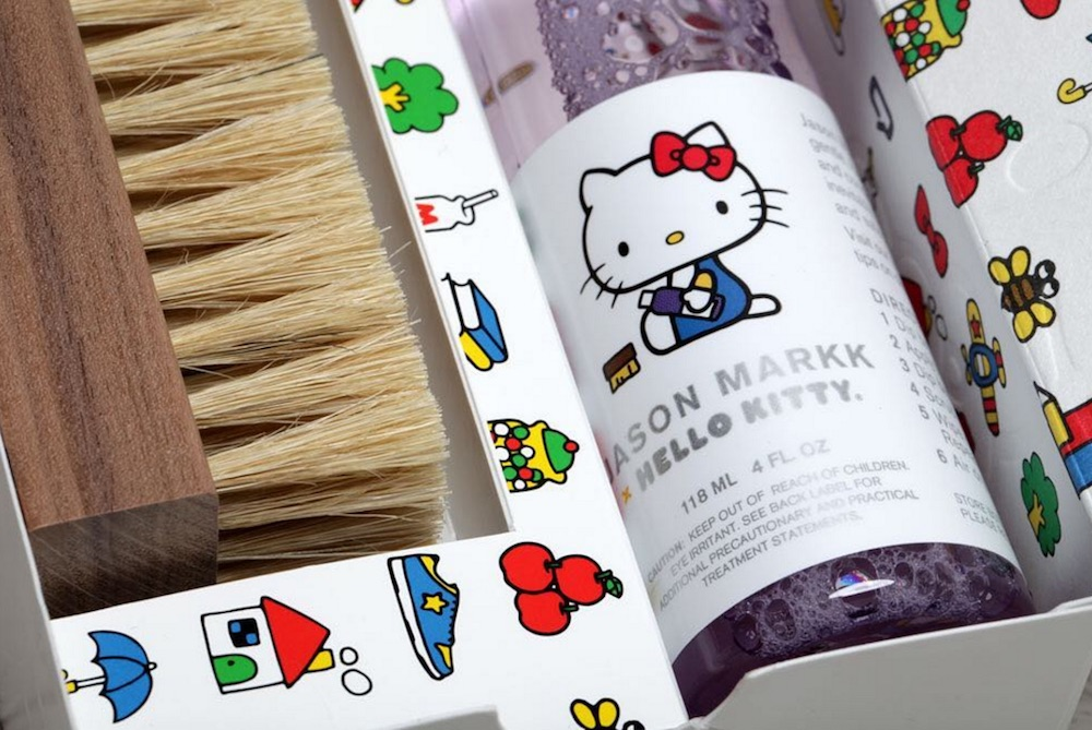 This Hello Kitty sneaker cleaning kit is back in stock, and we're actually excited to clean our shoes