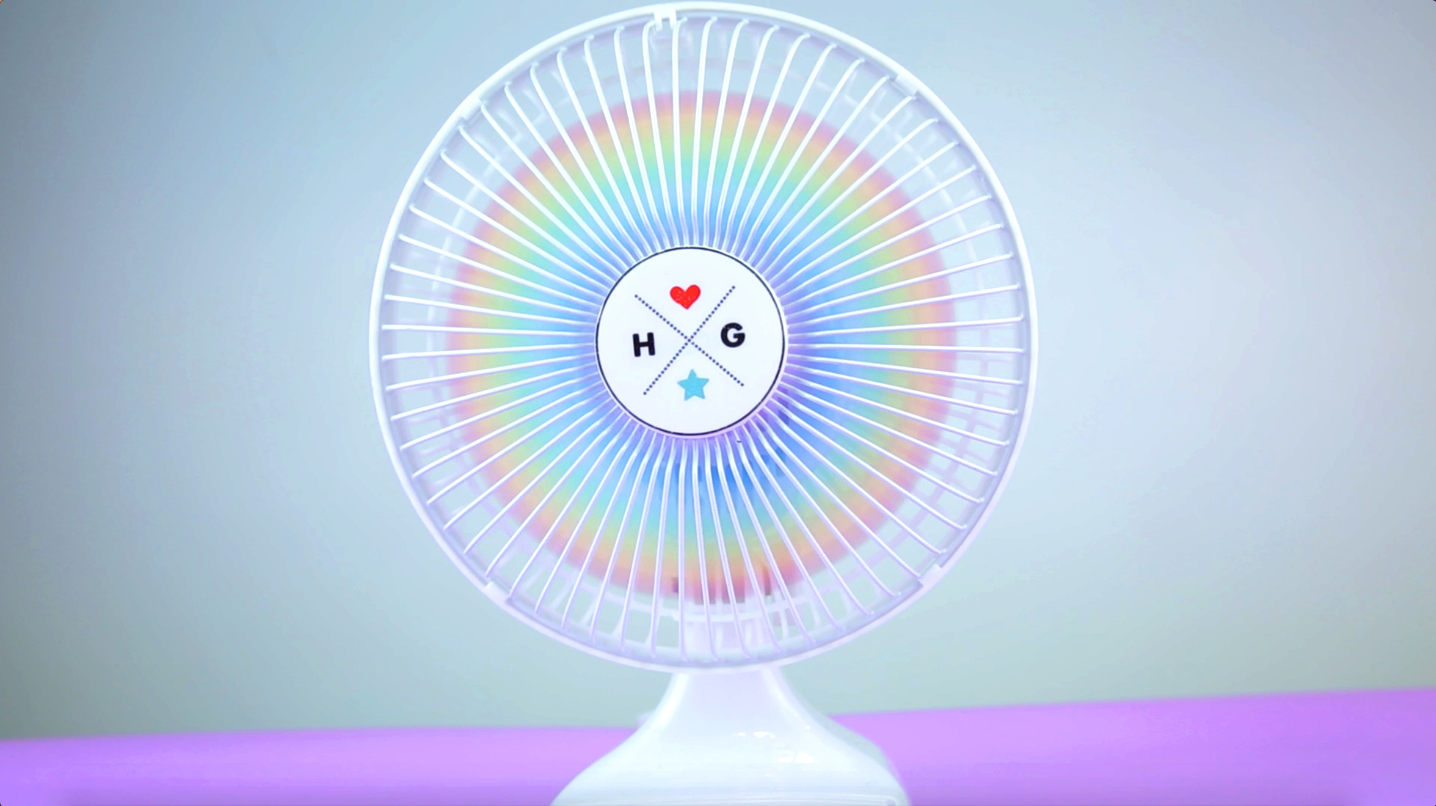This DIY Rainbow Fan will cool you down in the most colorful way