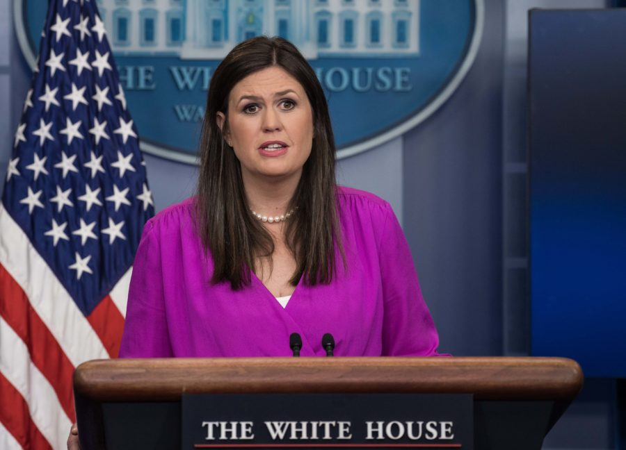 Sarah Huckabee Sanders is officially taking Sean Spicer's old job
