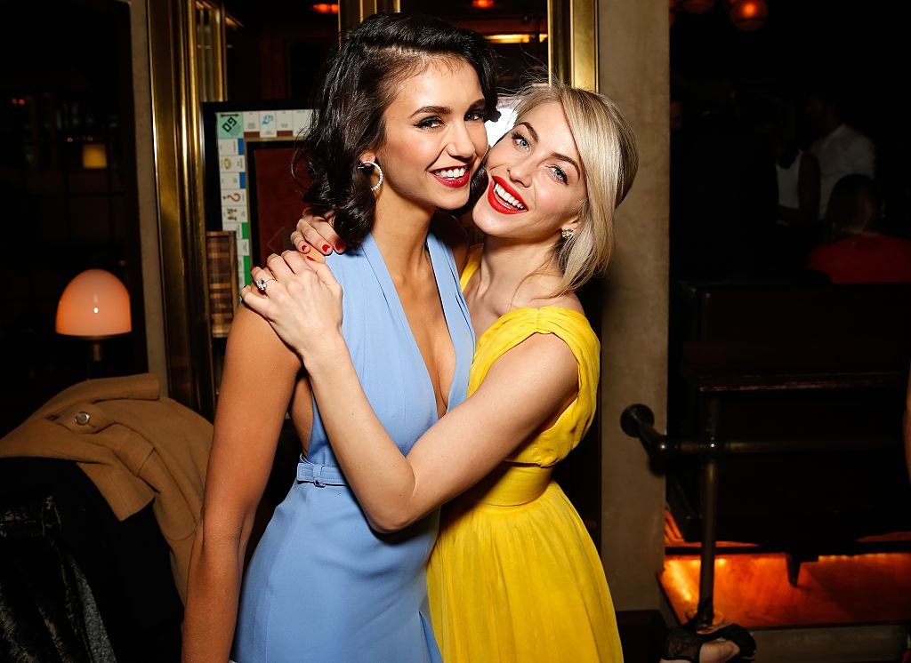 Nina Dobrev shared a photo of her bridesmaid dress for Julianne Hough's wedding, and it's so pretty!