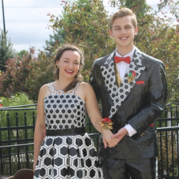 A bunch of teens used duct tape to craft their own tuxes and prom dresses, and WOW