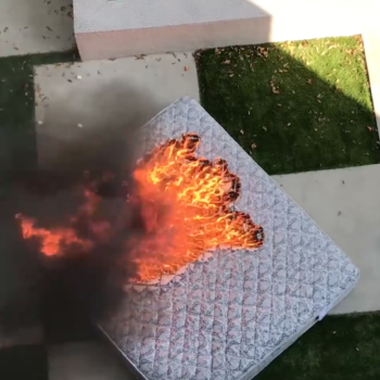 This YouTuber lit a mattress on fire in an empty swimming pool, and he's driving his Los Angeles neighbors crazy