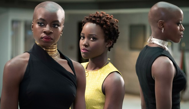 "Danai Gurira literally throws her wig at a bad guy in the ""Black Panther"" Comic-Con footage, is the most badass character"