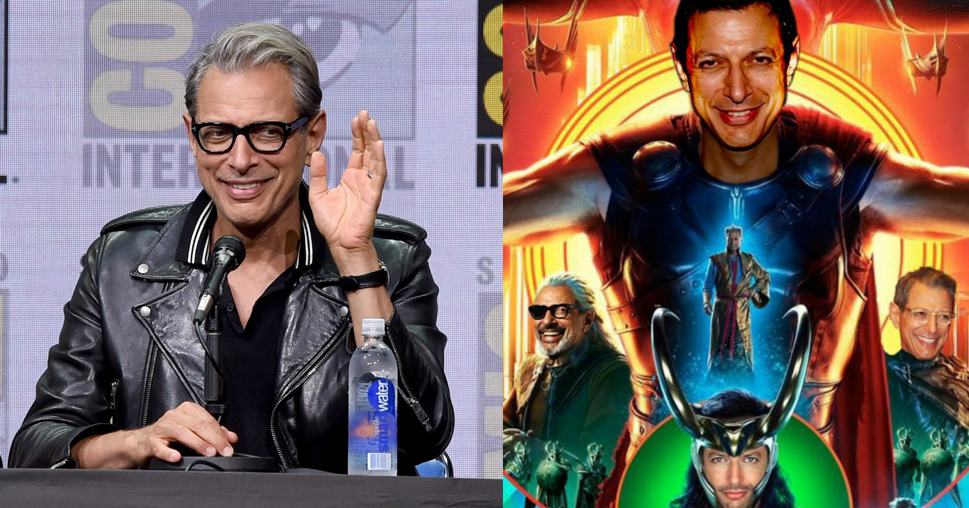 "Someone photoshopped Jeff Goldblum into all the roles in ""Thor,"" because uh, Ragnarok finds a way"