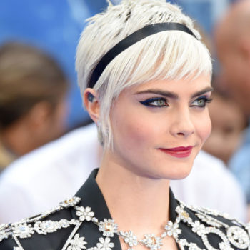 Cara Delevingne proves that glitter green pixie cuts are the new glitter roots