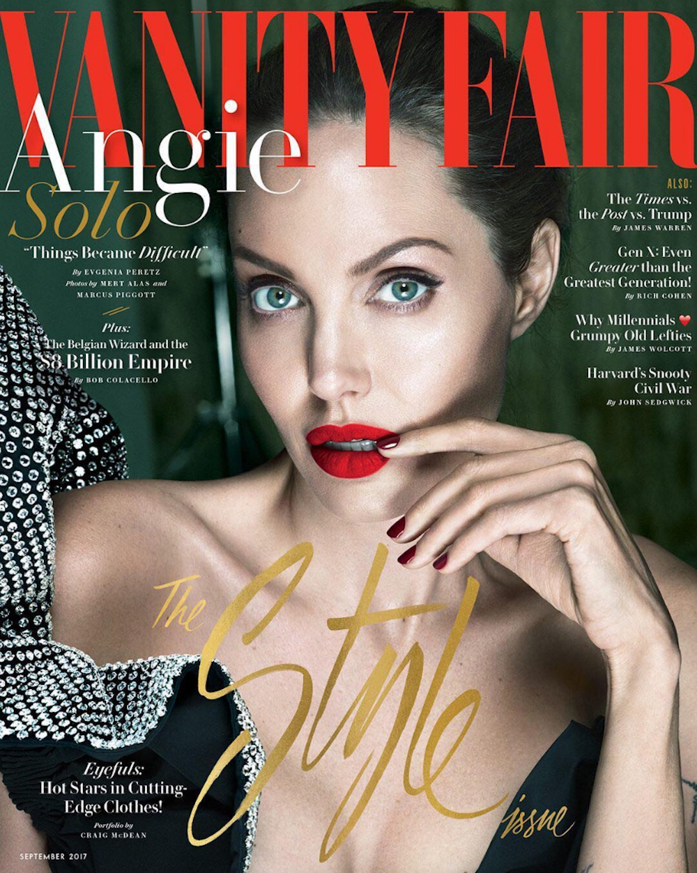 "Here's how to recreate Angelina Jolie's classic Hollywood look from her ""Vanity Fair"" cover"