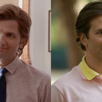 "Not a joke, Adam Scott is playing Bradley Cooper in Netflix's ""Wet Hot American Summer: Ten Years Later"""