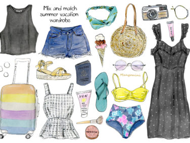 Your summer vacation wardrobe, illustrated