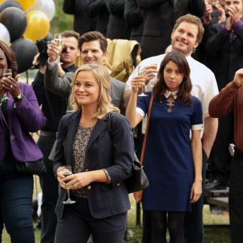 "A ""Parks and Recreation"" reunion happened last night thanks to Aubrey Plaza"