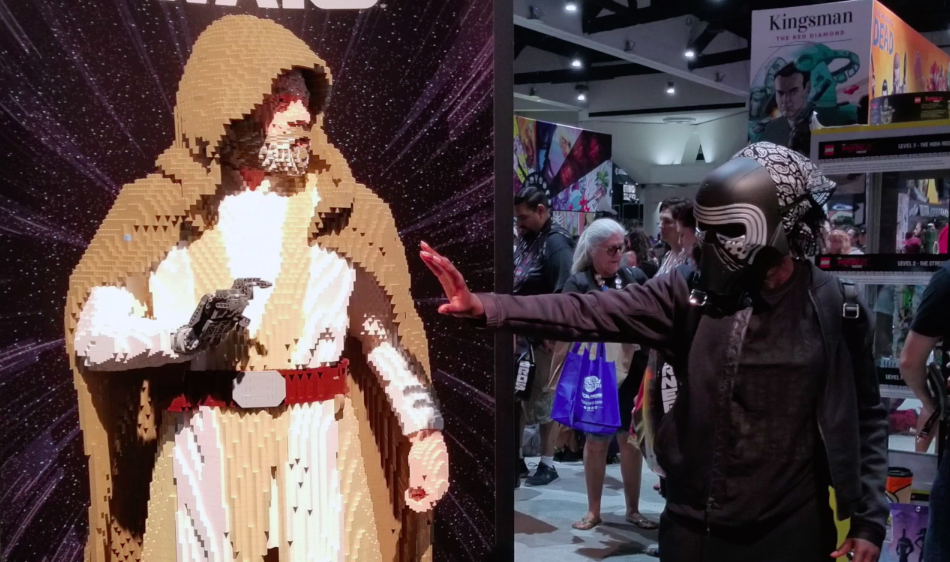 Because she's amazing, Lupita Nyong'o *also* went undercover at Comic-Con as Kylo Ren