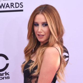 Ashley Tisdale went brunette, and it's the darkest hair color we've seen her rock yet