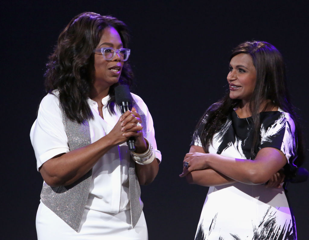 Mindy Kaling casually dropped her pregnancy news to Oprah like it was NBD